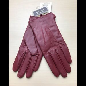 womens leather gloves large